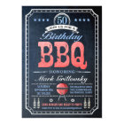 50th Birthday BBQ Invitations | Chalkboard