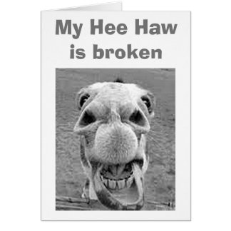50th BIRTHDAY=BROKEN HEE HAW FOR THIS DONKEY Card