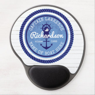 50th Birthday Captain Nautical Rope Anchor Helm Gel Mouse Pad