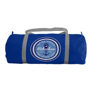 50th Birthday Captain Nautical Rope Anchor Helm Gym Bag