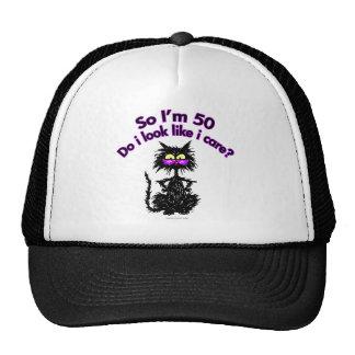 50th Birthday Cat Cap