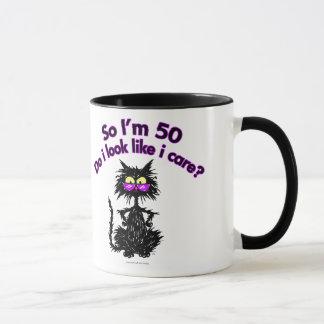 50th Birthday Cat Mug