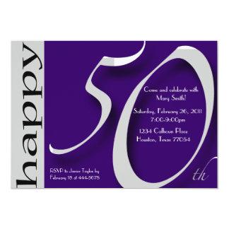 50th Birthday Celebration 13 Cm X 18 Cm Invitation Card