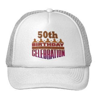 50th Birthday Celebration Gifts Trucker Hat