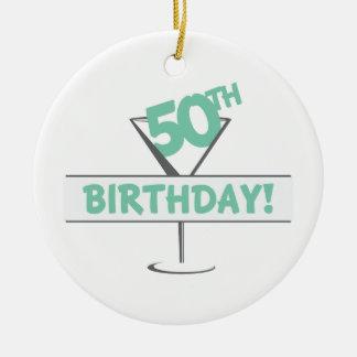 50Th Birthday! Ceramic Ornament