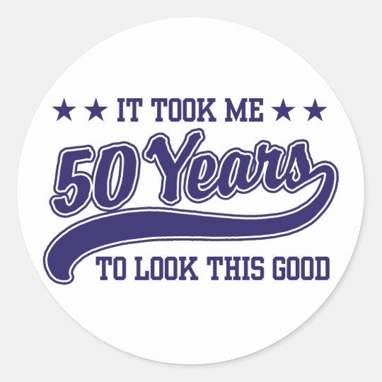50th Birthday Classic Round Sticker