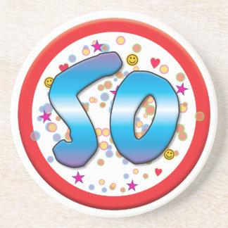 50th Birthday Drink Coaster