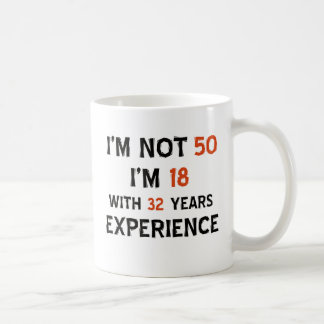 50th birthday designs coffee mug