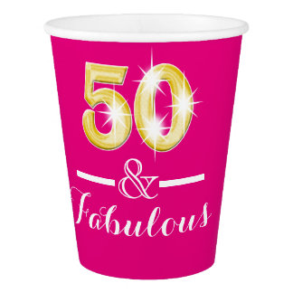 50th birthday fabulous pink gold