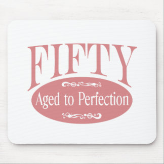 50th birthday, Fifty - Aged to Perfection Mouse Mat