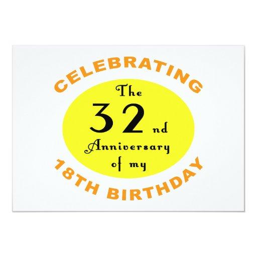 50th Birthday Gag Gift 13 Cm X 18 Cm Invitation Card