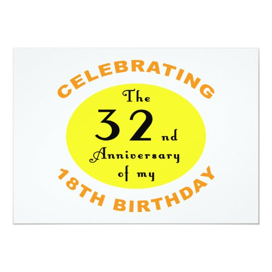 50th Birthday Gag Gift 13 Cm X 18 Cm Invitation Card