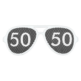 50th Birthday Gag Gifts Aviator Sunglasses