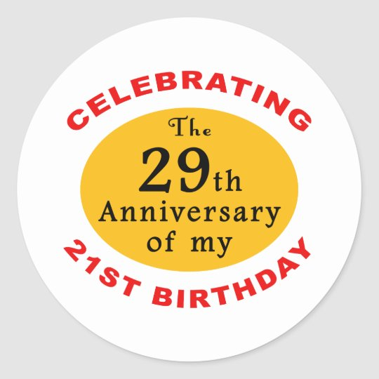 50th Birthday Gag Gifts Classic Round Sticker