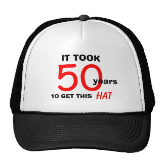50th Birthday Gag Gifts Hat for Men