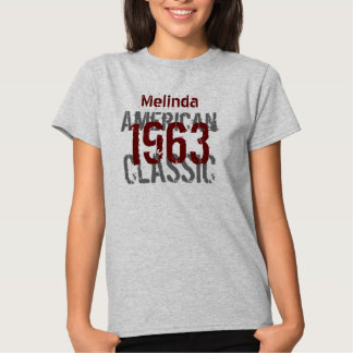 50th Birthday Gift 1963 American Classic Tees