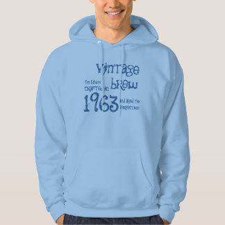 50th Birthday Gift 1963 Vintage Brew  Blue G202D Hooded Pullover
