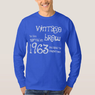 50th Birthday Gift 1963 Vintage Brew Blue G210 T-Shirt