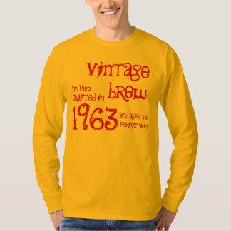 50th Birthday Gift 1963 Vintage Brew Gold G208 T Shirt