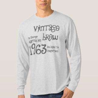 50th Birthday Gift 1963 Vintage Brew Gray G214 T-Shirt