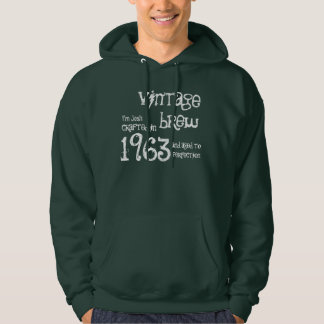 50th Birthday Gift 1963 Vintage Brew Green G202D Pullover