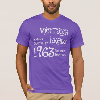 50th Birthday Gift 1963 Vintage Brew Purple G206 T-Shirt