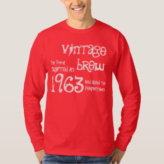 50th Birthday Gift 1963 Vintage Brew Red G207 T-Shirt