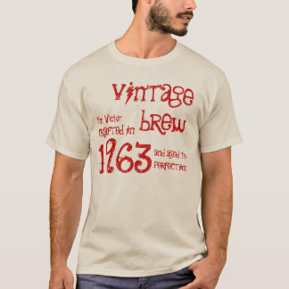 50th Birthday Gift 1963 Vintage Brew Red G213 T-Shirt