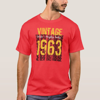 50th Birthday Gift Best 1963 Vintage V012 T-Shirt