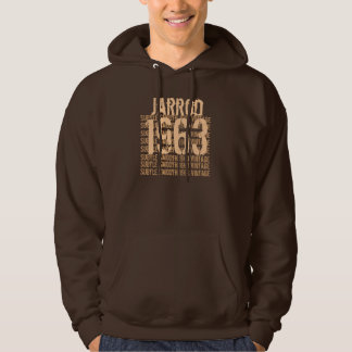 50th Birthday Gift Best Vintage Year 1963 Hoodie