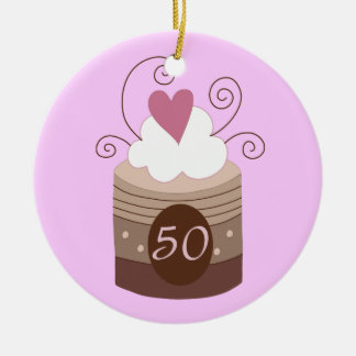 50th Birthday Gift Ideas For Her Ceramic Ornament