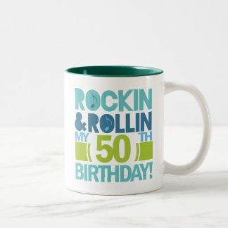 50th Birthday Gift Ideas Two-Tone Mug