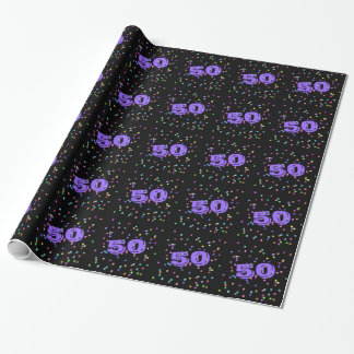 50th Birthday Gift Wrap Wrapping Paper