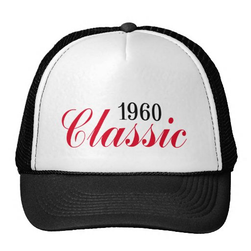 50th birthday gifts, 1960 Classic! Mesh Hats