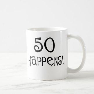 50th birthday gifts, 50 Happens! Coffee Mugs