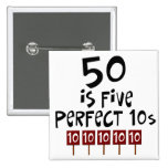 50th birthday gifts, 50 is 5 perfect 10s!