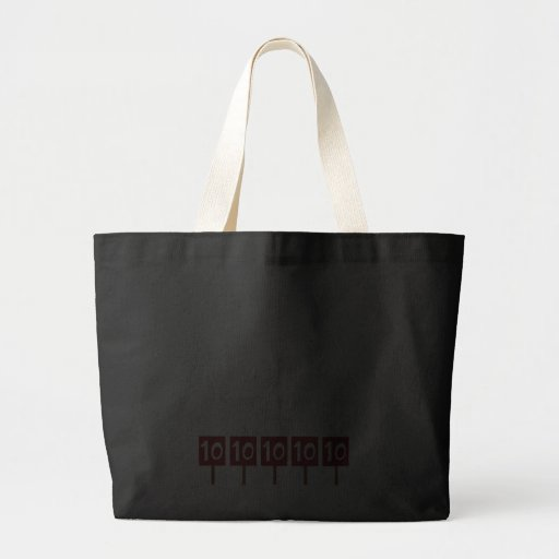 50th birthday gifts, 50 is 5 perfect 10s! jumbo tote bag