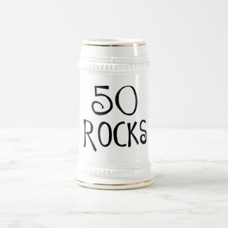 50th birthday gifts, 50 ROCKS Beer Steins
