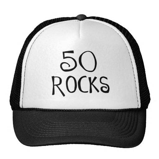 50th birthday gifts, 50 ROCKS Mesh Hats