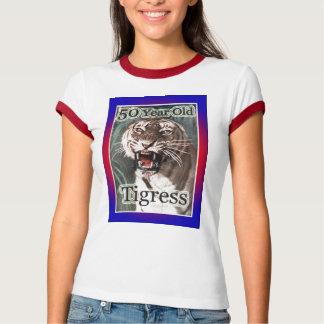 50th Birthday Gifts, 50 Year Old Tigress! T-Shirt