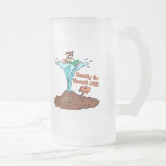 50th Birthday Gifts Frosted Glass Beer Mug