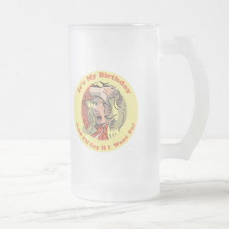 50th Birthday Gifts Frosted Glass Mug