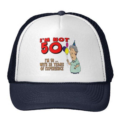 50th Birthday Gifts Hat