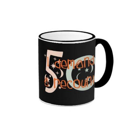 50th birthday gifts, I demand a recount! Coffee Mugs