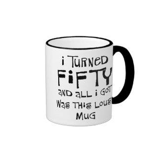 50th birthday gifts, I hate this shirt! Ringer Mug