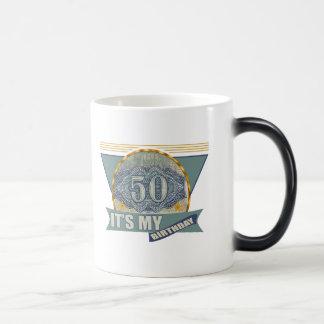 50th Birthday Gifts Morphing Mug