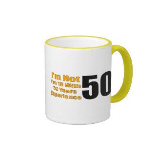 50th Birthday Gifts Ringer Mug