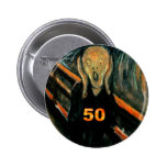 50th Birthday Gifts, The Scream 50! Pins