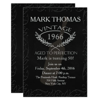 50th Birthday Invitation Aged to Perfection