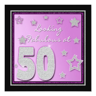 50TH BIRTHDAY INVITATION -  FEMALE - STARS